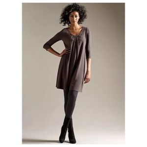 Eileen Fisher XL Cobblestone Jersey Beaded Dress